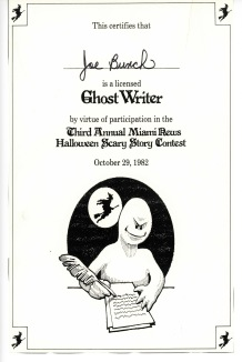 Ghost Writer Certificate
