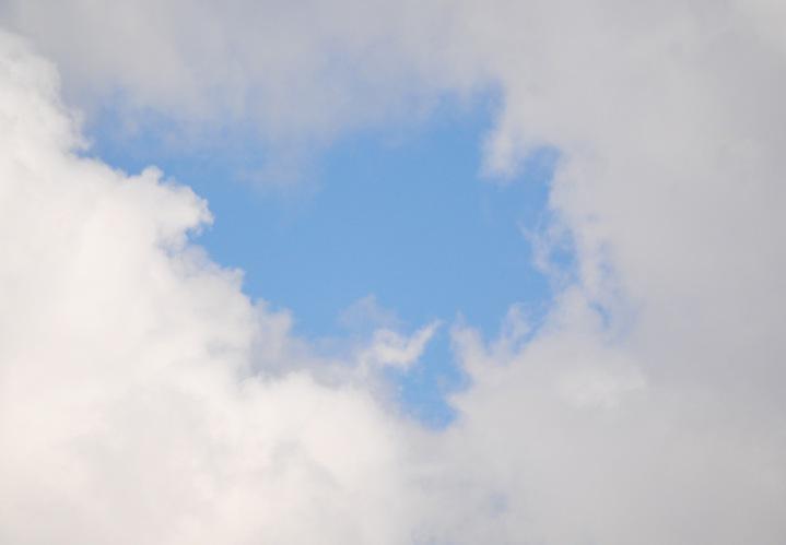 3 - Clouds with Blue Sky Hole