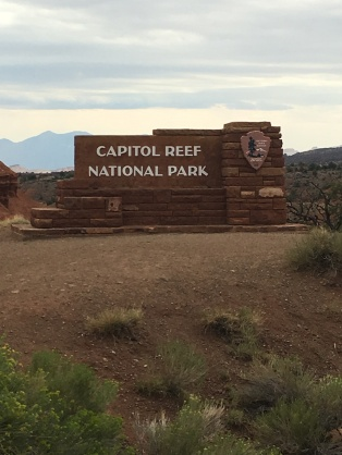 Capitol Reef National Park Sign